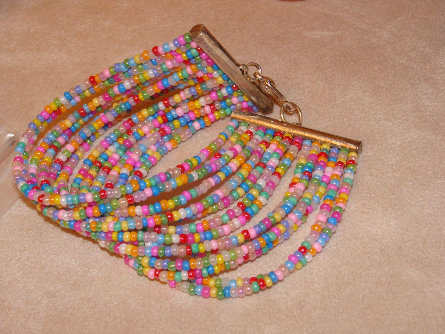 bracelet perle de rocaille modele